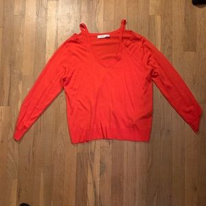 ZARA knitwear coral sweater